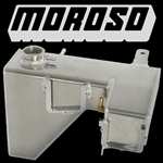 Aluminum HEMI Coolant Tank with Single power steering tab location by Moroso