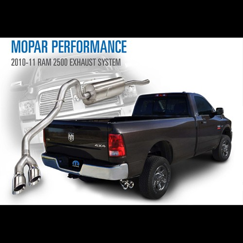 2010 Dodge Ram 2500 Regular Cab Exterior: Mopar 2010-11 Ram 2500 Regular Cab 8' Bed Cat-Back Exhaust