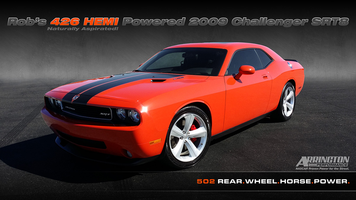 rob 39 s arrington performance 426 hemi powered 2009 challenger srt8 dodge challenger forum. Black Bedroom Furniture Sets. Home Design Ideas
