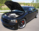 426 HEMI powered SRT8 Dodge Charger With Open Hood